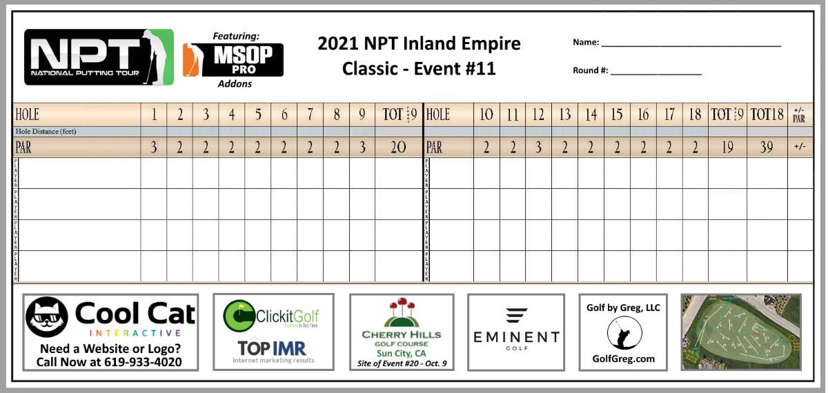 Event 11 Scorecard Small
