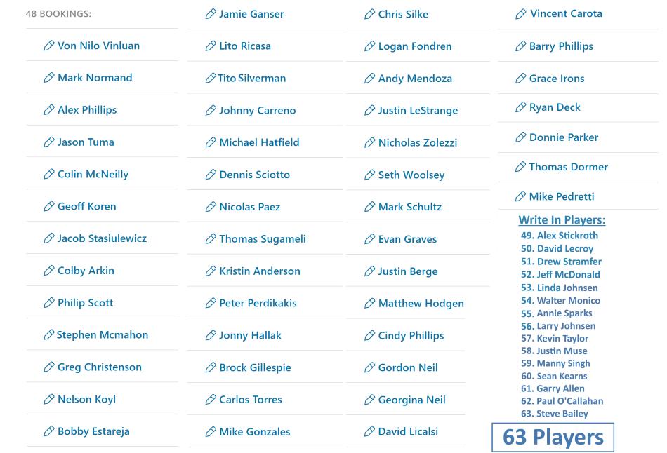 New Player List 8